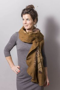 Handmade Poncho / Scarf Sofia Organic And Brown