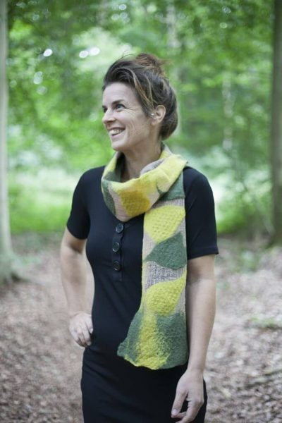 Handmade Scarf Jula Yellow Green