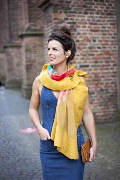 Craft Poncho / Scarf Sofia Modern and Yellow