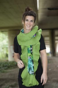 Craft Poncho / Scarf Sofia Spring and Green