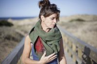 Handmade Poncho / Scarf Sofia Summer And Green