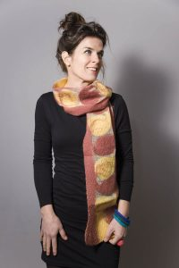 Handmade Scarf Jula Terra and Yellow