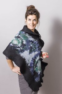 Handmade Poncho / Scarf Sofia Dream and Black